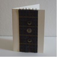Tartan Effect Hand Made Card