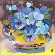 Pansies in Royal Doulton