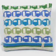 Blue and Green Happy Days Cushion
