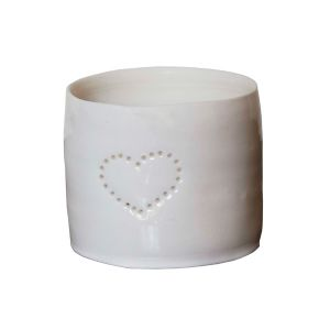 Single Heart  Porcelain Tea Lights
