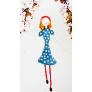 Polka Dot Blue Dress Doll