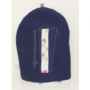 Navy Blue Coffee Cosy