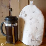 Cream Linen Coffee Cosy