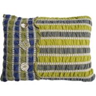 Navy and Green Cushion