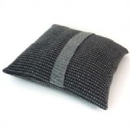 Charcoal Grey Pinstripe Cushion