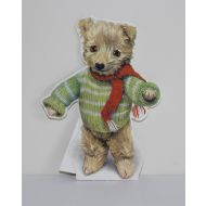 Old Bear Cut Out Card  Green Jumper Bear