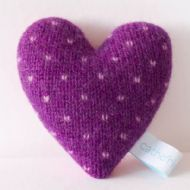 Violet and Lilac Mini Spot Lavender Heart