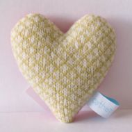 Citrus and White Check Lavender Heart