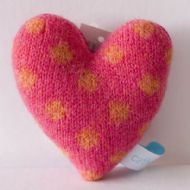 Strawberry and Gold Polka Dot Lavender Heart