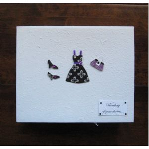Personalised Purple Dress Keepsake Box